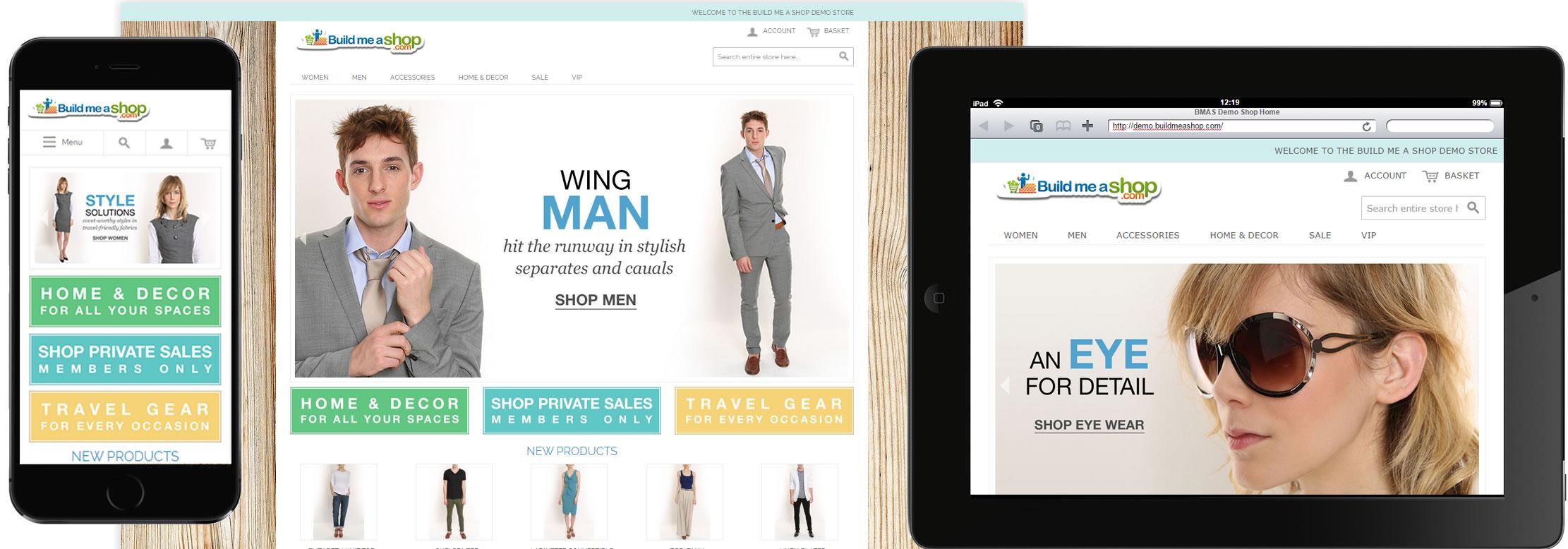 Responsive Magento webshop design for phone, tablet or desktop