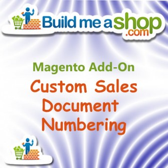 Custom Sales Docuement Numbering Build me A Shop Add-on
