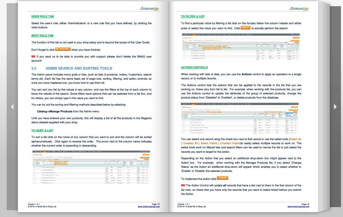 bmas magento user guide rh buildmeashop com example user manual example of user  guide