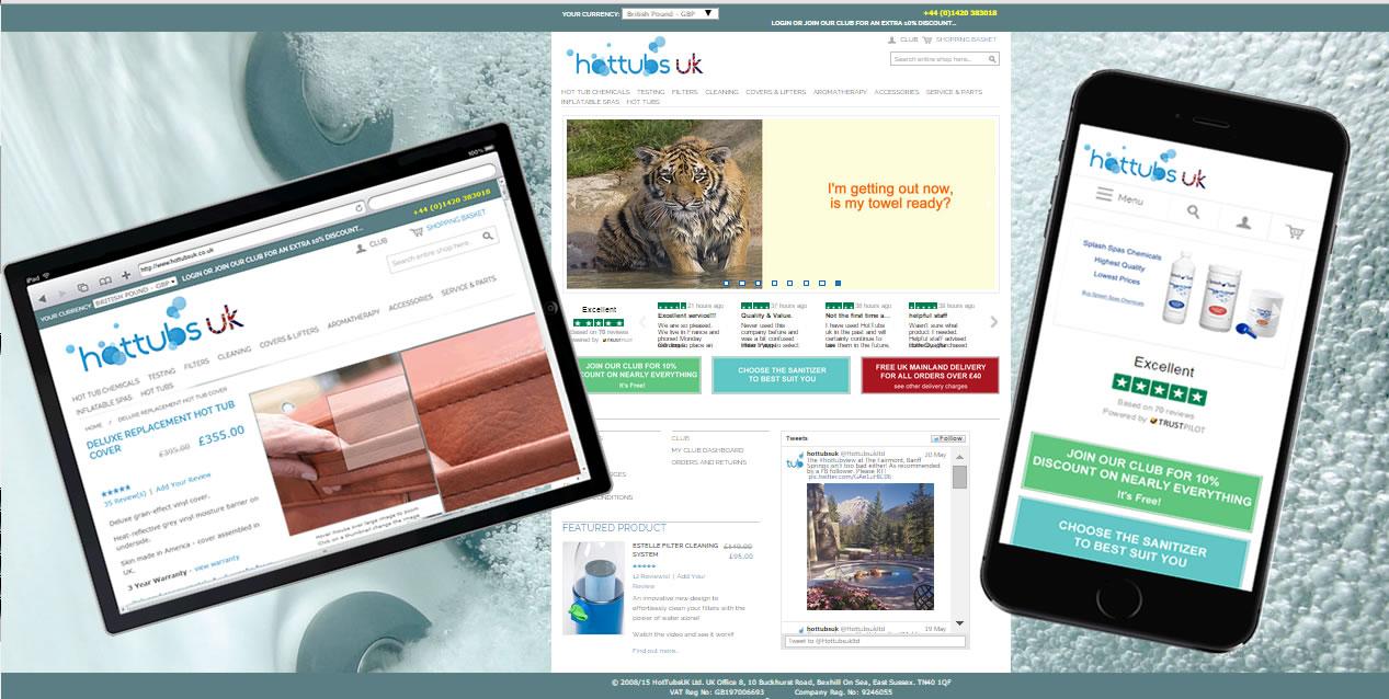 HotTubsUk responsive Magento website