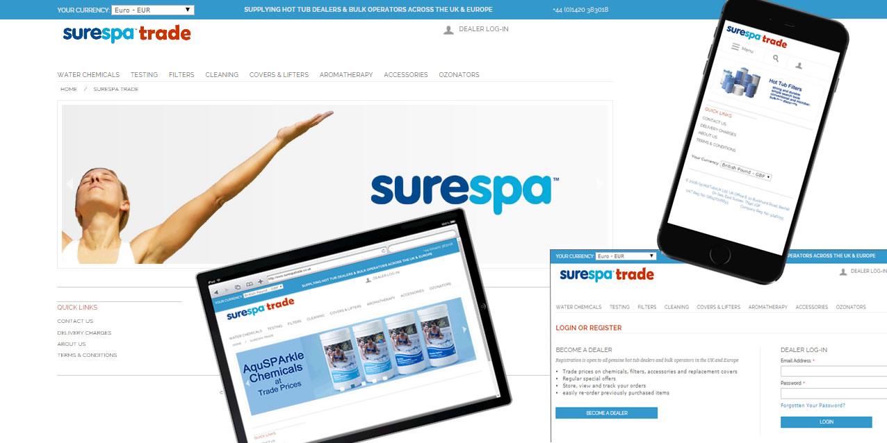 surespatrade responsive Magento website